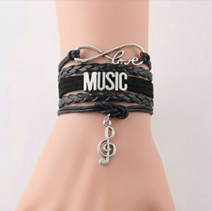 Jewelry - 🆕Music Love Charm Bracelet Braided Band